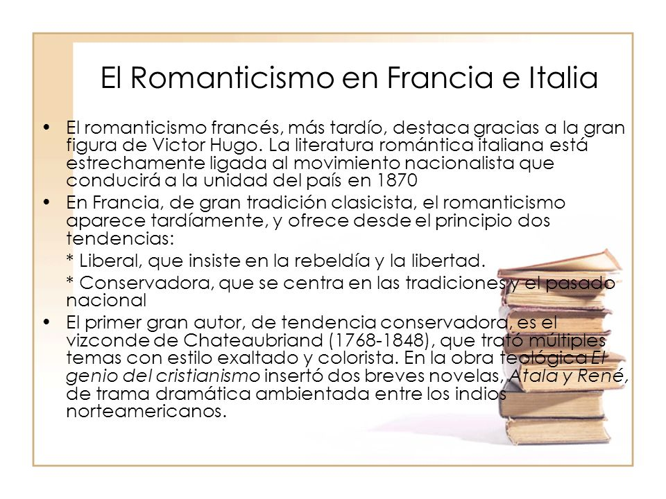 El Romanticismo en Francia e Italia