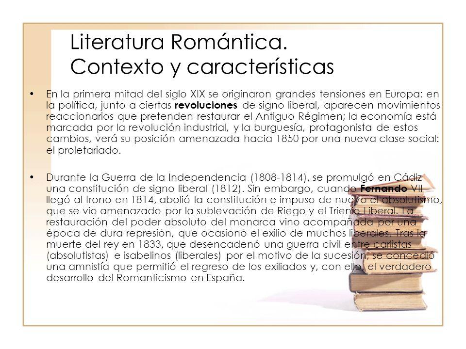 Literatura Romántica. Contexto y características