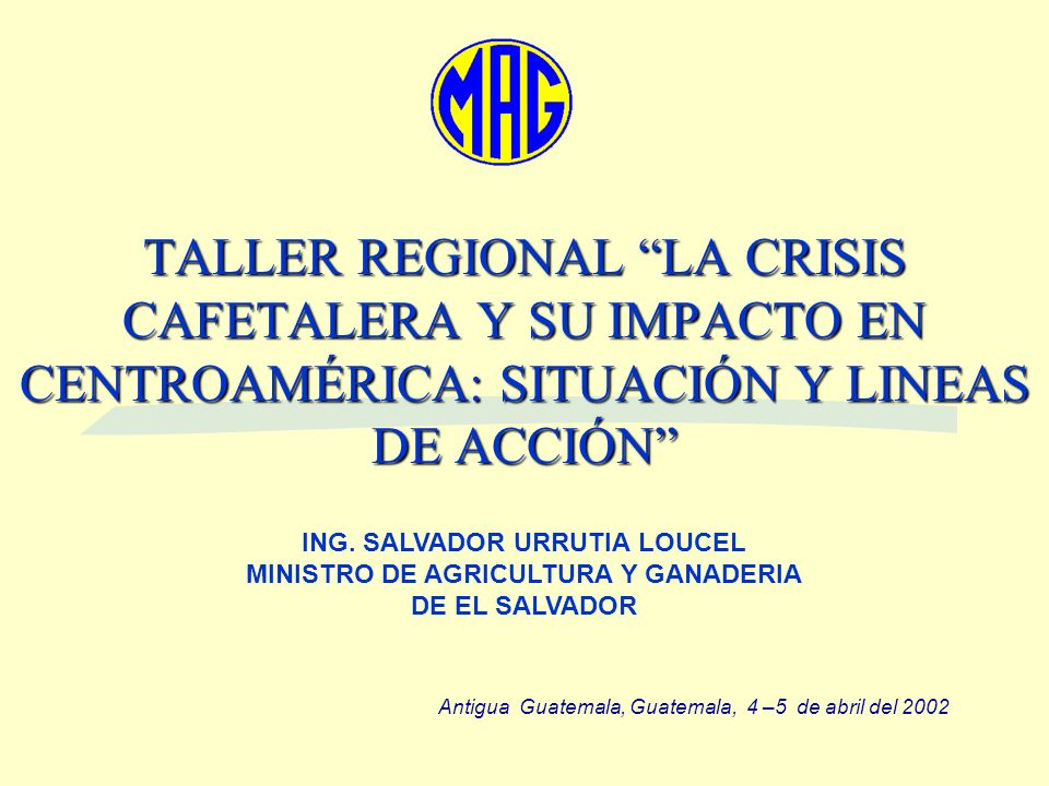 ING. SALVADOR URRUTIA LOUCEL MINISTRO DE AGRICULTURA Y GANADERIA