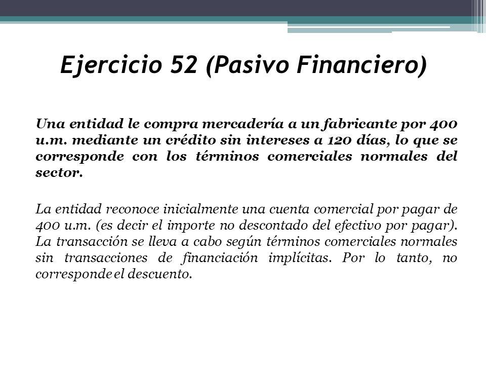 Ejercicio 52 (Pasivo Financiero)