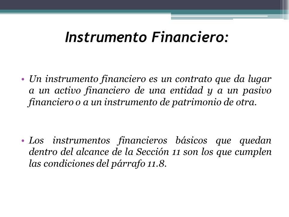 Instrumento Financiero: