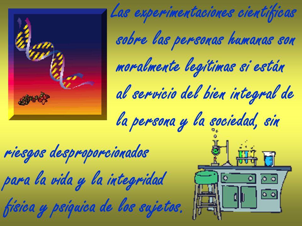 Las experimentaciones científicas