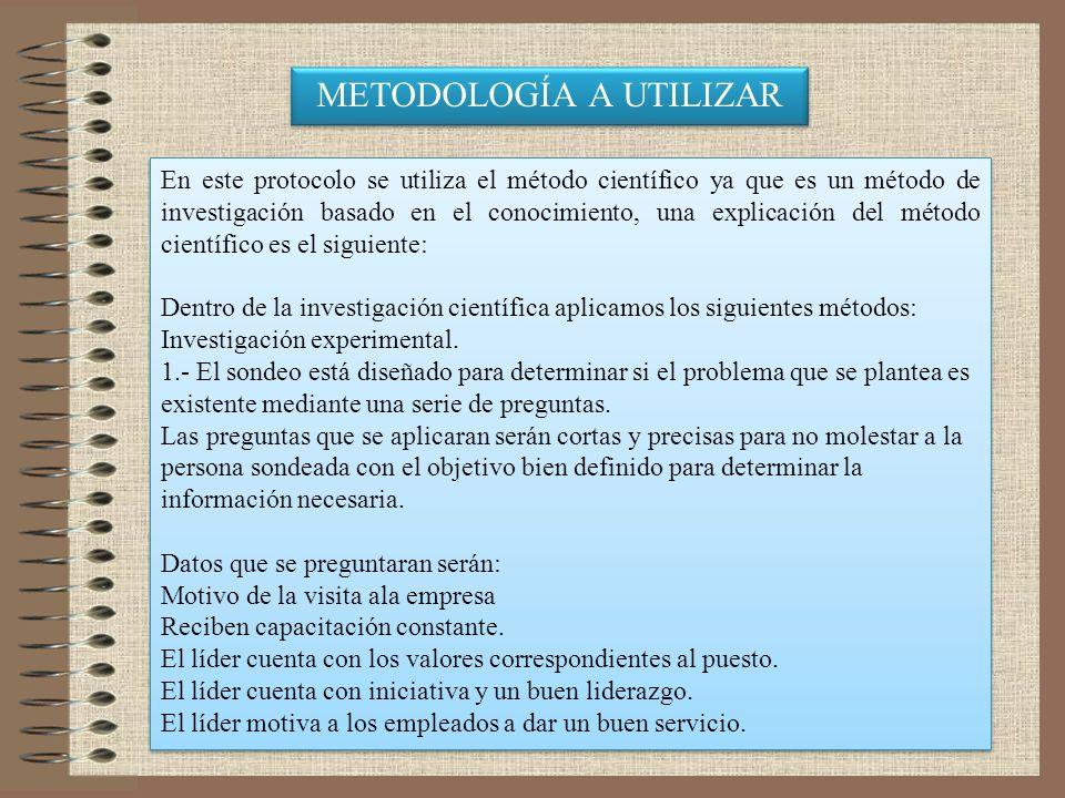 METODOLOGÍA A UTILIZAR