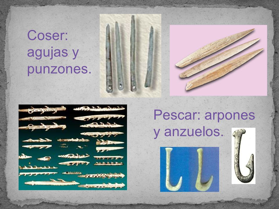 Coser: agujas y punzones.