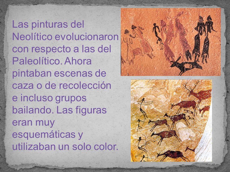 Las pinturas del Neolítico evolucionaron con respecto a las del Paleolítico.
