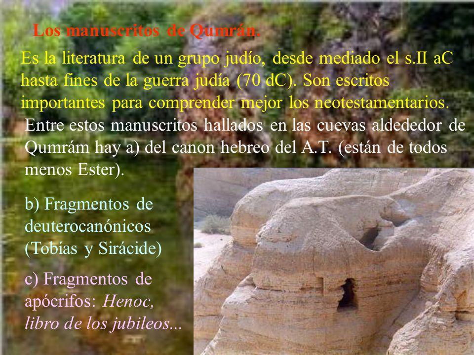 Los manuscritos de Qumrán.