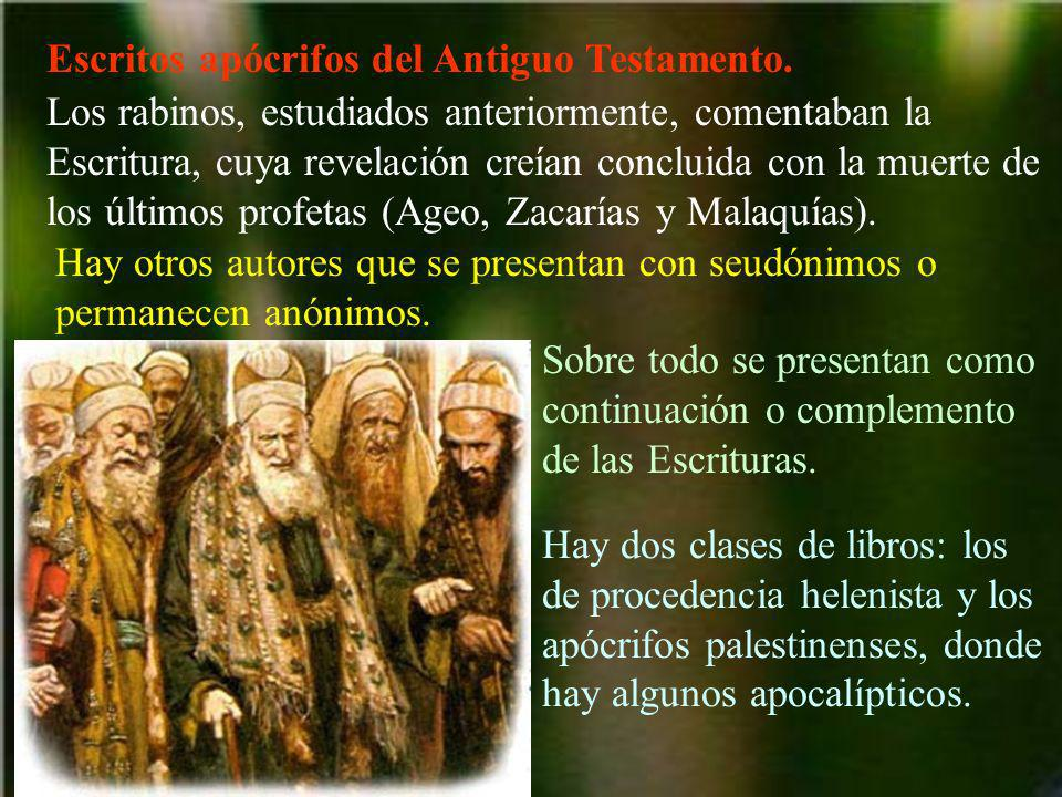 Escritos apócrifos del Antiguo Testamento.