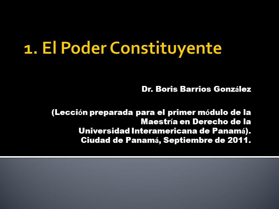 1. El Poder Constituyente