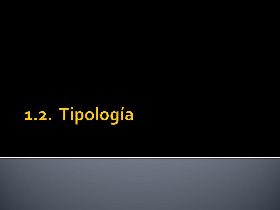 1.2. Tipología