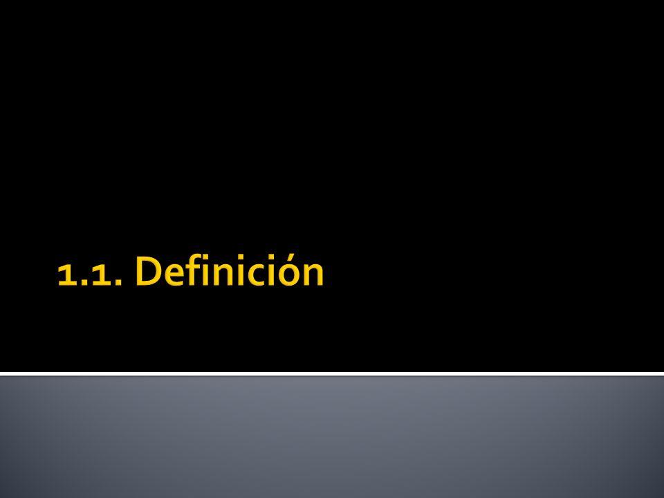 1.1. Definición