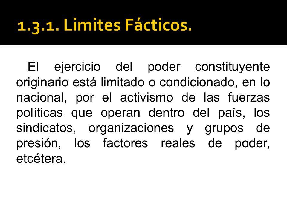 1.3.1. Limites Fácticos.