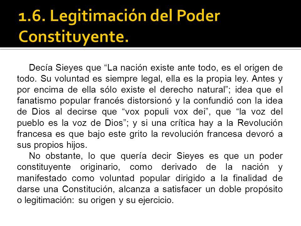 1.6. Legitimación del Poder Constituyente.