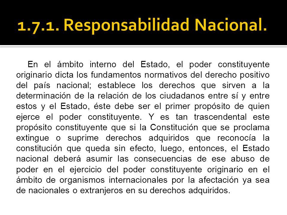 1.7.1. Responsabilidad Nacional.