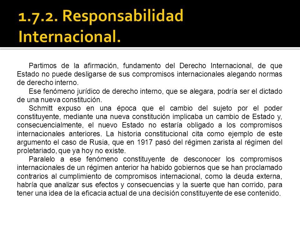 1.7.2. Responsabilidad Internacional.