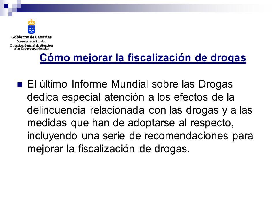 Cómo mejorar la fiscalización de drogas