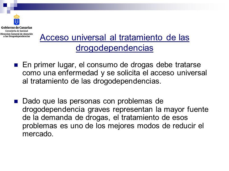 Acceso universal al tratamiento de las drogodependencias