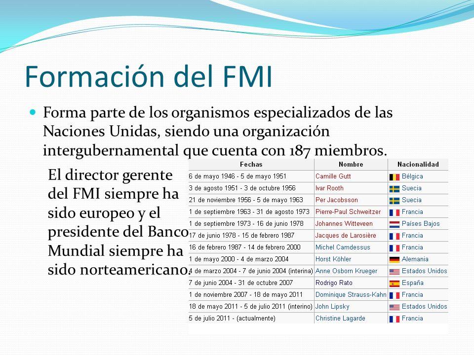 Formación del FMI