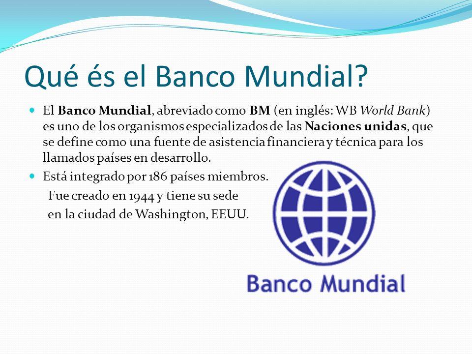 Qué és el Banco Mundial