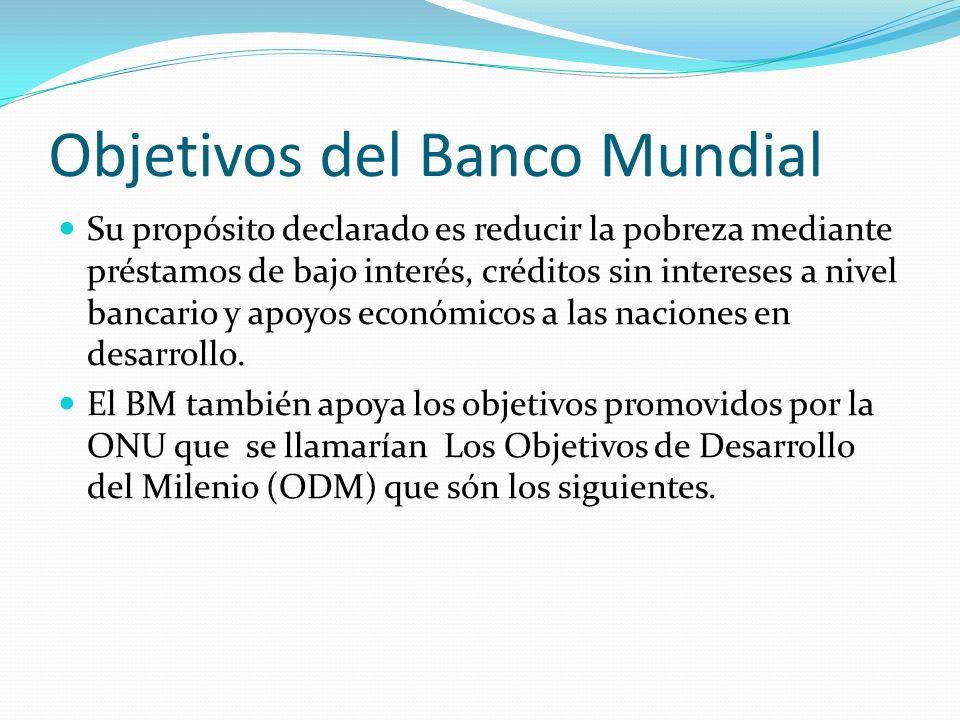 Objetivos del Banco Mundial