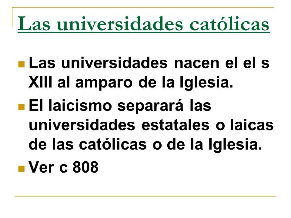 Las universidades católicas
