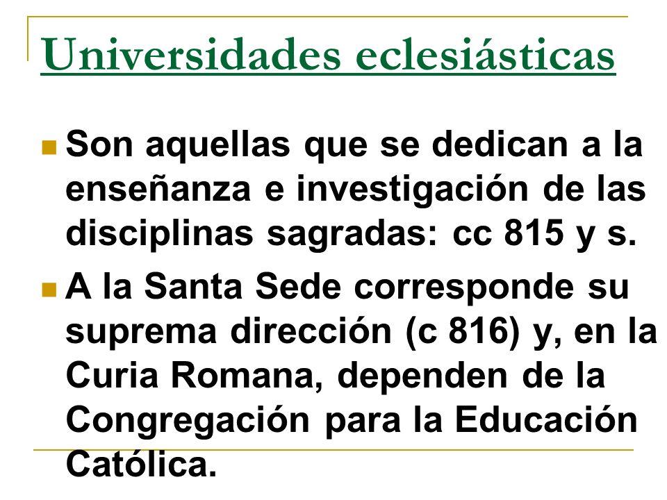 Universidades eclesiásticas