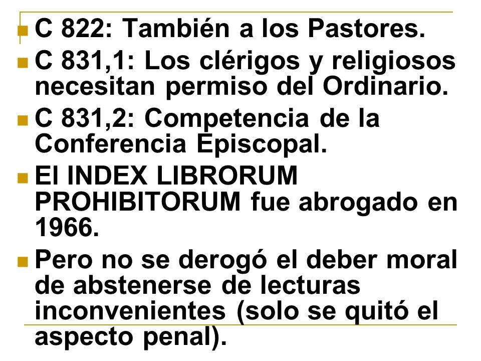 C 822: También a los Pastores.