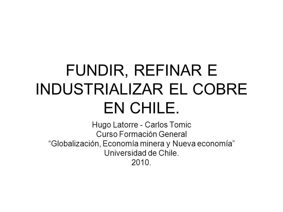 FUNDIR, REFINAR E INDUSTRIALIZAR EL COBRE EN CHILE.