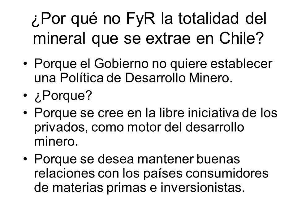 ¿Por qué no FyR la totalidad del mineral que se extrae en Chile