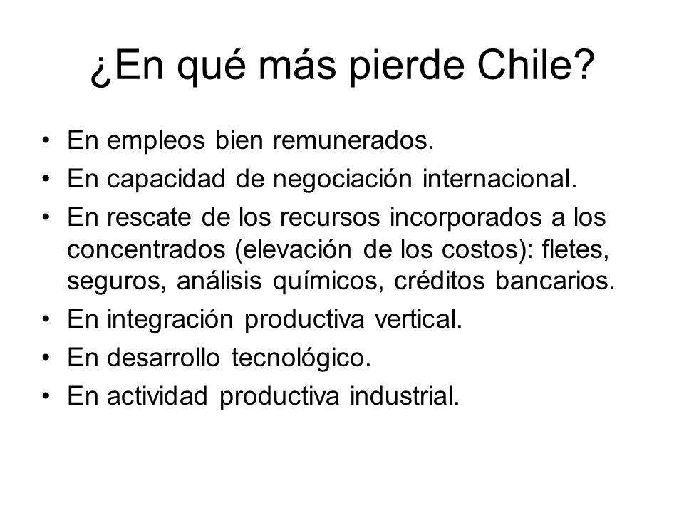 ¿En qué más pierde Chile