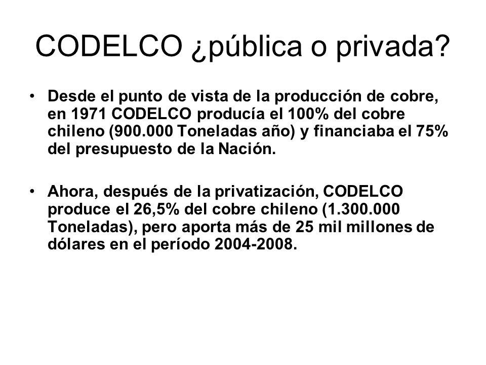 CODELCO ¿pública o privada