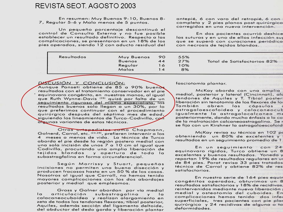 REVISTA SEOT. AGOSTO 2003