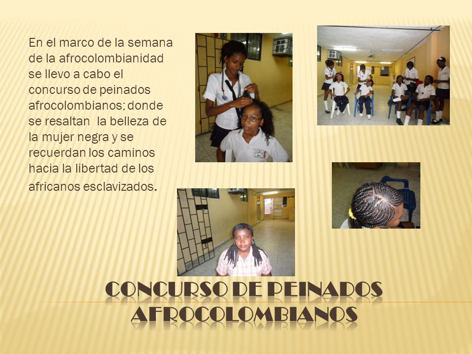Concurso de peinados afrocolombianos