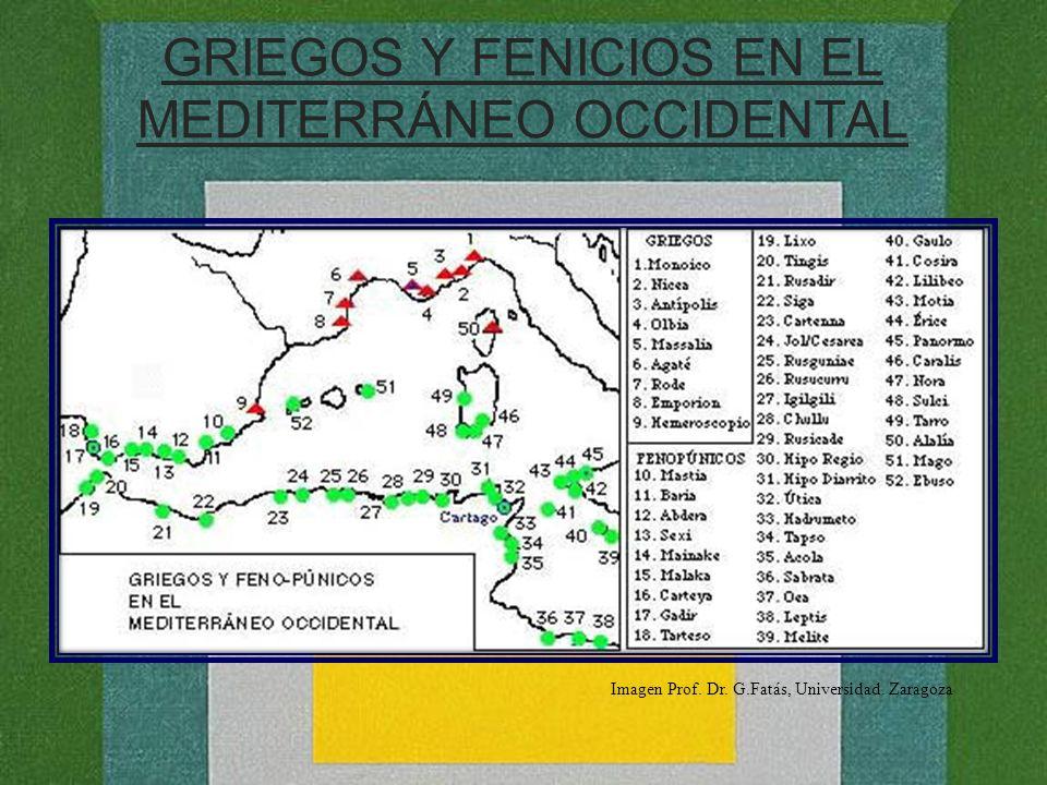 GRIEGOS Y FENICIOS EN EL MEDITERRÁNEO OCCIDENTAL