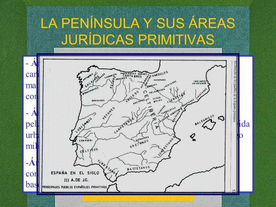 LA PENÍNSULA Y SUS ÁREAS JURÍDICAS PRIMITIVAS