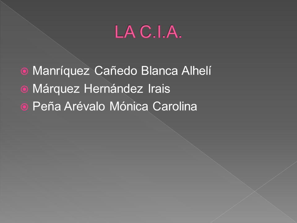 LA C.I.A. Manríquez Cañedo Blanca Alhelí Márquez Hernández Irais