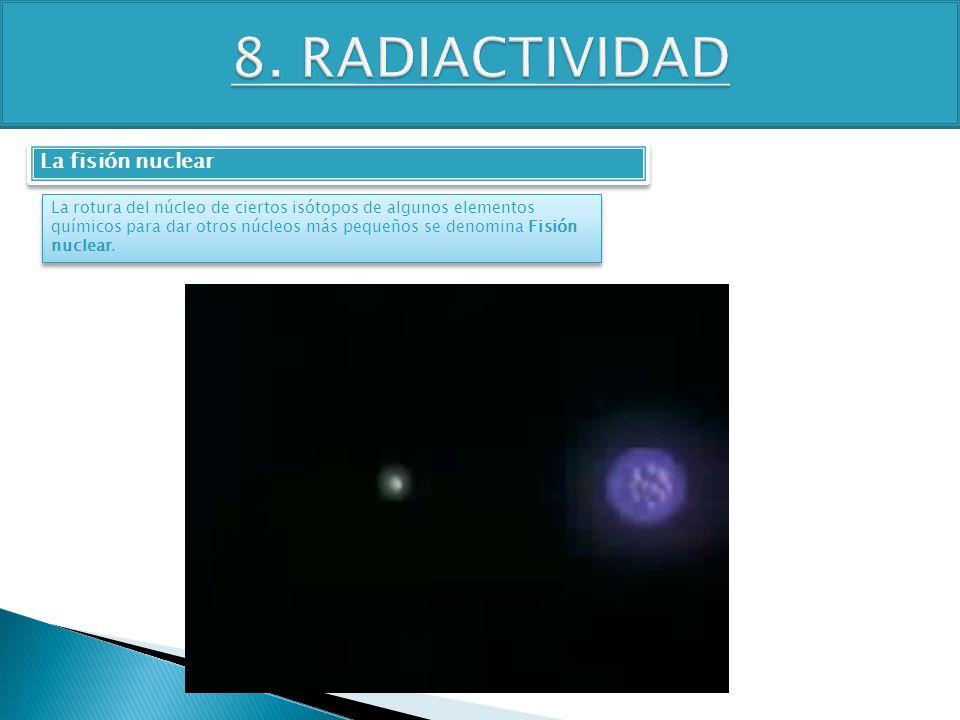 8. RADIACTIVIDAD La fisión nuclear