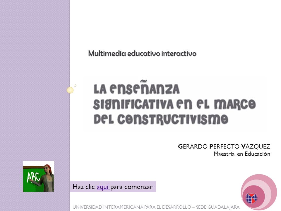 Multimedia educativo interactivo