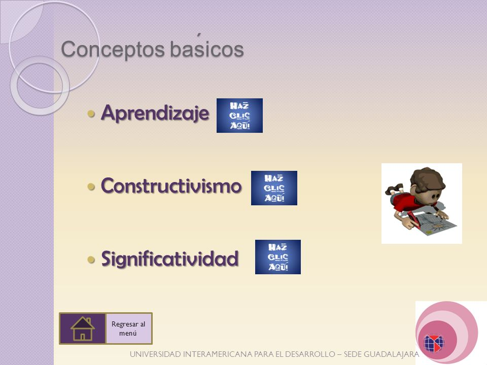 ´ Conceptos basicos Aprendizaje Constructivismo Significatividad
