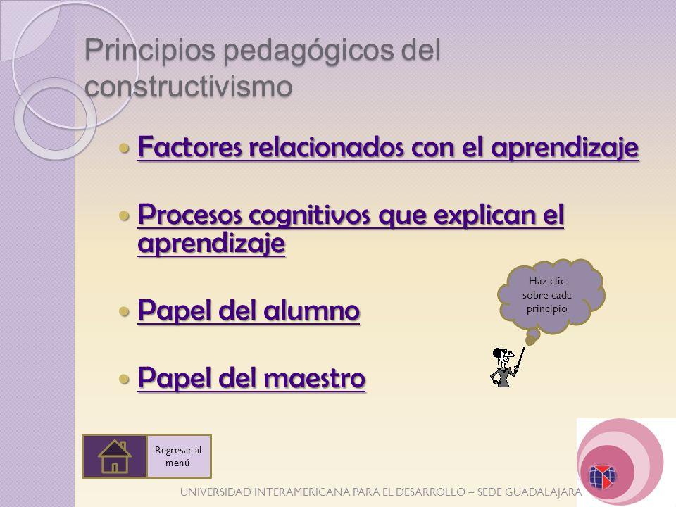 Principios pedagógicos del constructivismo