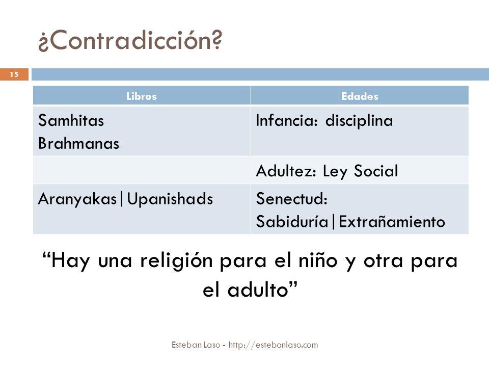 Hay una religión para el niño y otra para el adulto