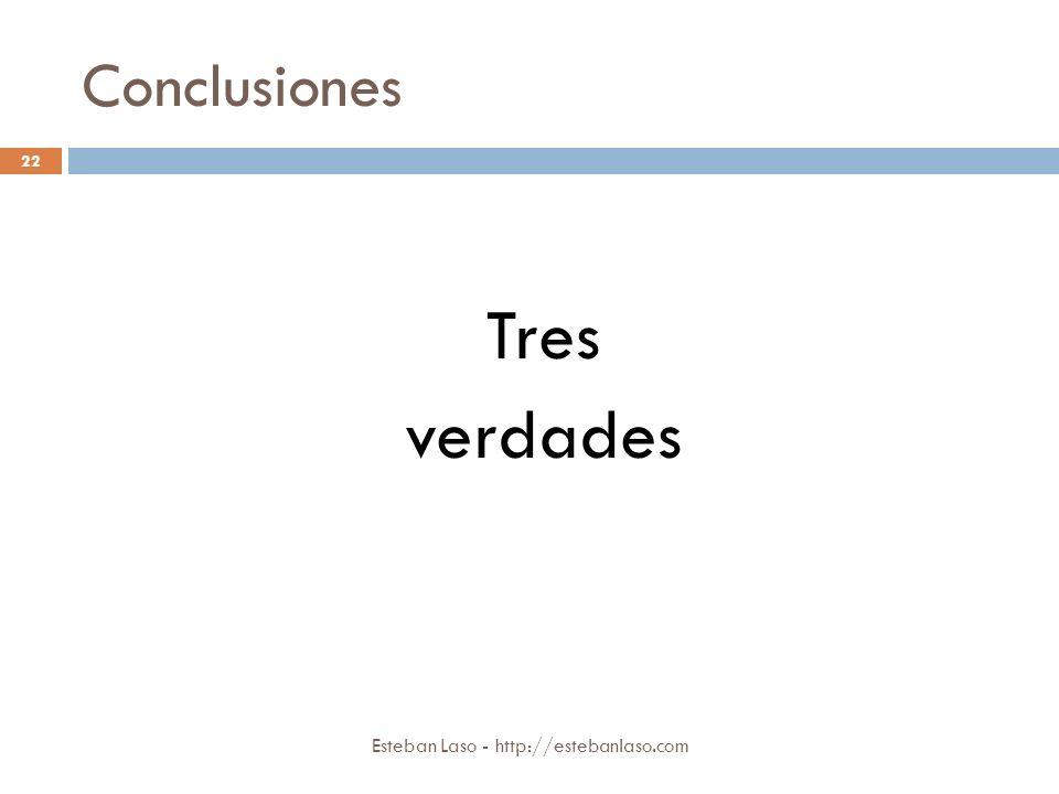 Conclusiones Tres verdades Esteban Laso - http://estebanlaso.com