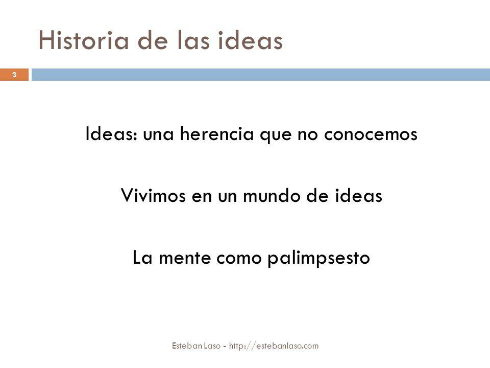 Historia de las ideas Ideas: una herencia que no conocemos