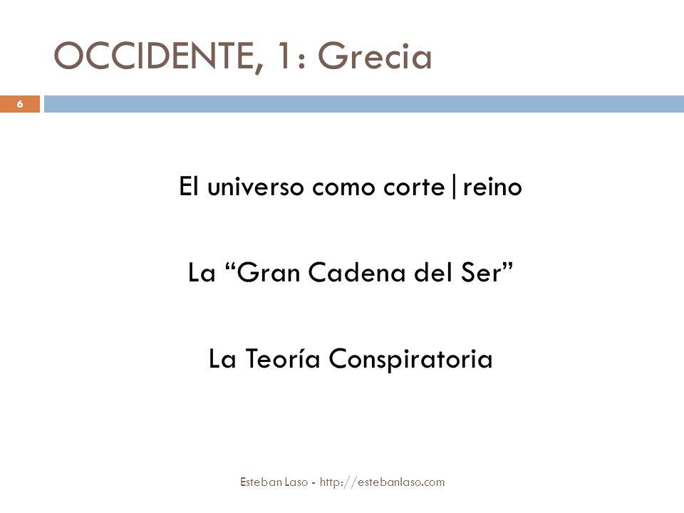 OCCIDENTE, 1: Grecia El universo como corte|reino
