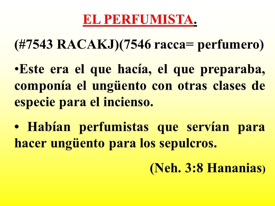 EL PERFUMISTA.(#7543 RACAKJ)(7546 racca= perfumero)