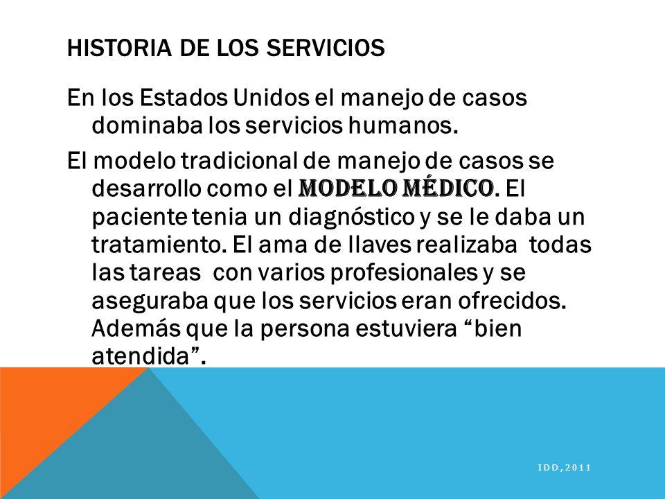 Historia de los servicios