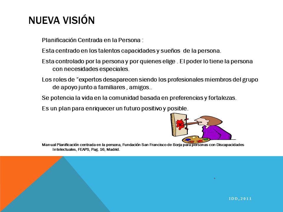 Nueva visión Planificación Centrada en la Persona :