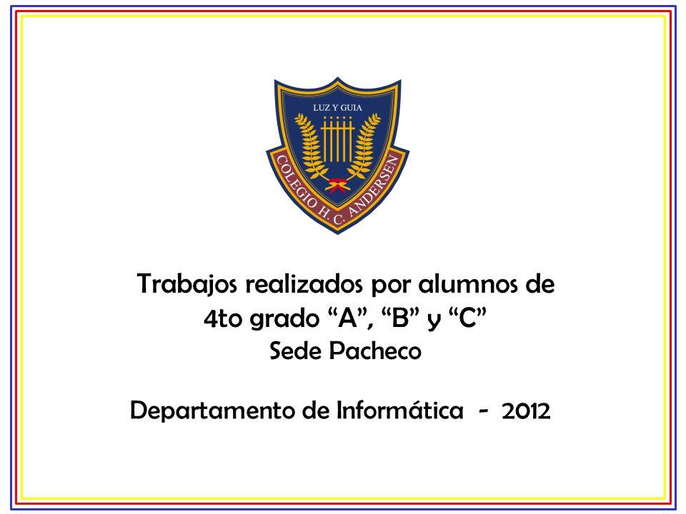 Departamento de Informática - 2012