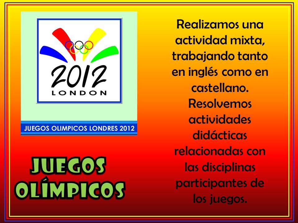 Realizamos una actividad mixta, trabajando tanto en inglés como en castellano.