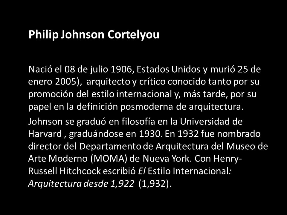 Philip Johnson Cortelyou