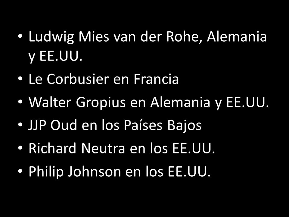 Ludwig Mies van der Rohe, Alemania y EE.UU.
